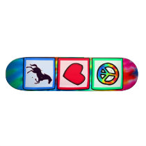 Peace, Love, Horses Skateboard
