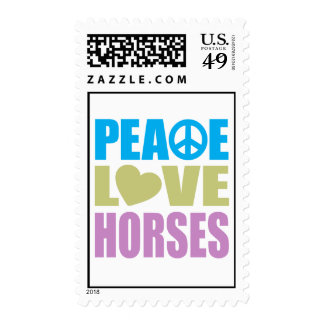 Peace Love Horses Stamps