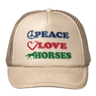 Peace-Love-Horses Trucker Hat