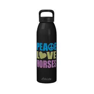 Peace Love Horses Water Bottles