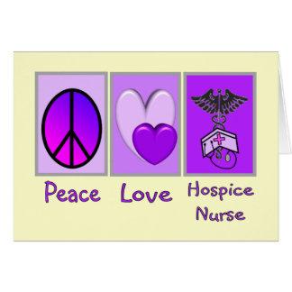 Peace Love Hospice Nurse (PURPLE) Card