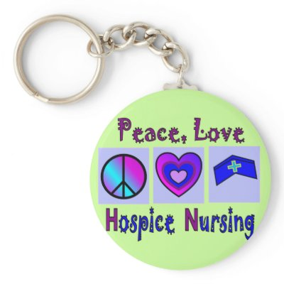 Paz, amor, cuidados do hospício chaveiros por gailg1957