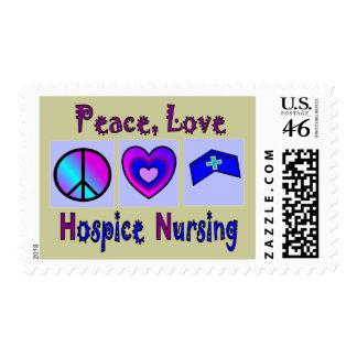 Peace, Love, Hospice Nursing Stamps