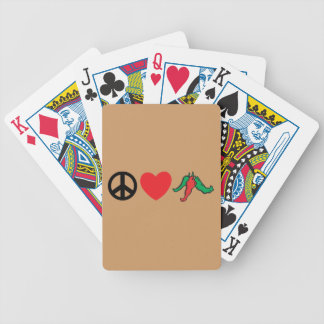 Peace Love Hot Chile Peppers Bicycle Playing Cards
