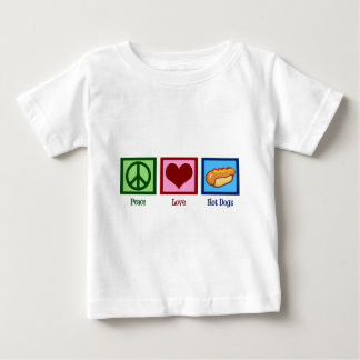 Peace Love Hot Dogs Baby T-Shirt