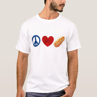 Peace Love Hotdog T-Shirt