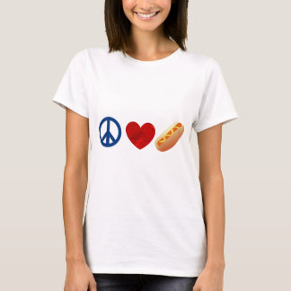 Peace Love Hotdog T-Shirt