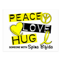 Peace Love Hug 1 Spina Bifida Postcard