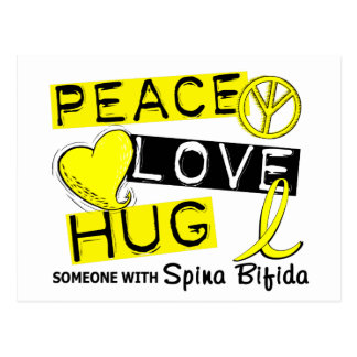 Peace Love Hug 1 Spina Bifida Postcard