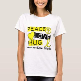 Peace Love Hug 1 Spina Bifida T-Shirt