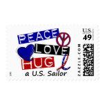PEACE LOVE HUG A U.S. Sailor Shirts & Gifts Postage