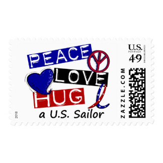 PEACE LOVE HUG A U.S. Sailor Shirts & Gifts Postage