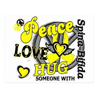 Peace Love Hug Spina Bifida Postcard