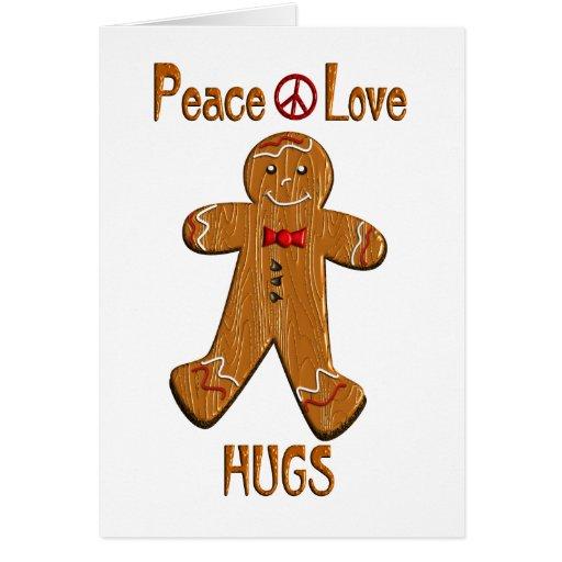 Peace Love Hugs Greeting Card