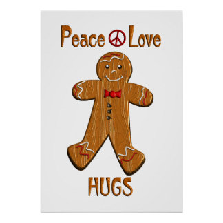 Peace Love Hugs Poster