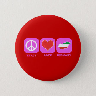 Peace Love Hungary Button