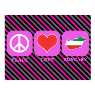 Peace Love Hungary Postcard