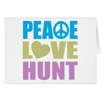 Peace Love Hunt Card