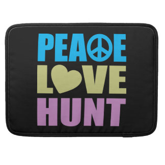 Peace Love Hunt Sleeve For MacBooks