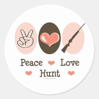 Peace Love Hunt Stickers