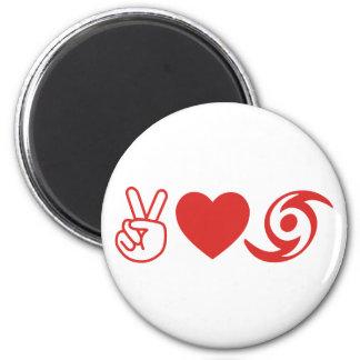Peace Love Hurricane Fridge Magnet