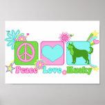 Peace Love Husky Poster