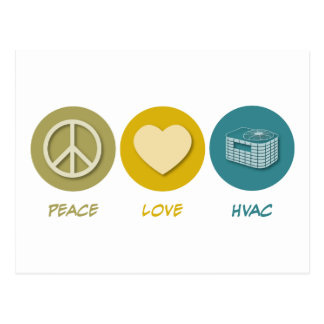 Peace Love HVAC Postcard