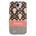 Peace Love Ice Cream Cone Samsung Galaxy S4 Cases