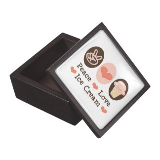 Peace Love Ice Cream Gift Box Premium Keepsake Boxes