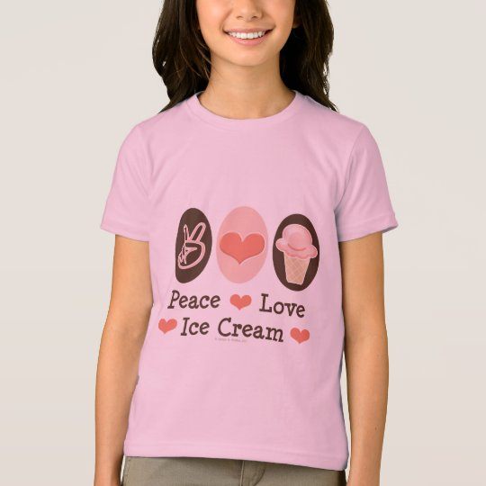 Peace Love Ice Cream Kids Ringer T-shirt