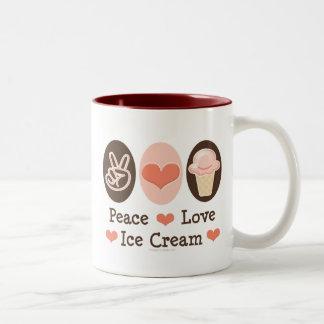 Peace Love Ice Cream Mug