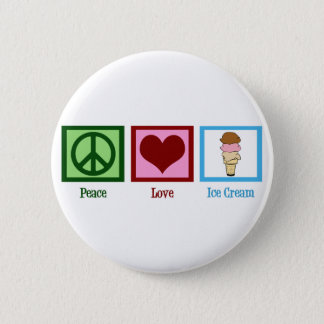 Peace Love Ice Cream Pinback Button