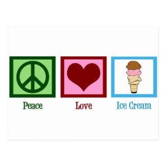 Peace Love Ice Cream Postcard