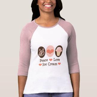 Peace Love Ice Cream Raglan Shirt