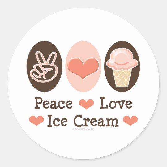 Peace Love Ice Cream Stickers