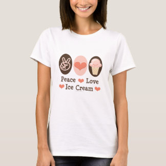 Peace Love Ice Cream T-shirt