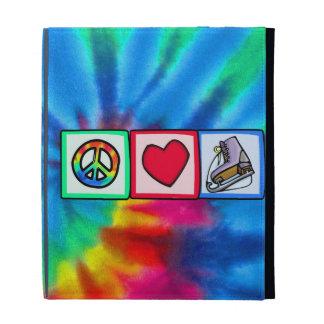 Peace, Love, Ice Skate iPad Folio Case