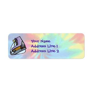 Peace, Love, Ice Skate Return Address Labels