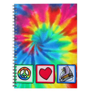 Peace Love Ice Skate Note Book