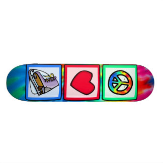 Peace, Love, Ice Skate Skateboard Deck