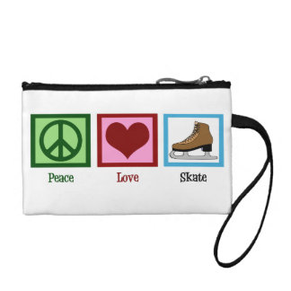 Peace Love Ice Skating Coin Wallet