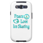 Peace Love Ice Skating Galaxy S3 Cover