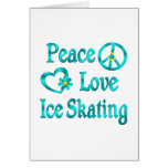 Peace Love Ice Skating Greeting Card