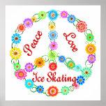 Peace Love Ice Skating Print