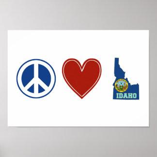 Peace Love Idaho Poster