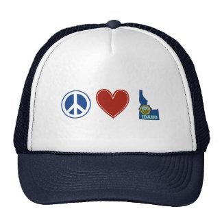 Peace Love Idaho Trucker Hat