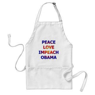 Peace Love Impeach Obama Adult Apron