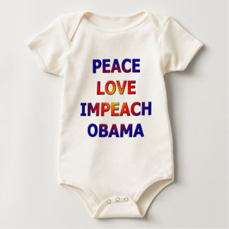 Peace Love Impeach Obama Baby Bodysuit