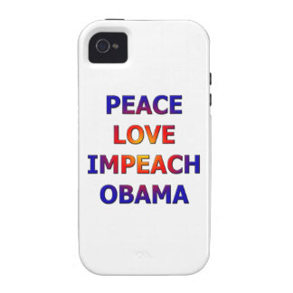 Peace Love Impeach Obama Case-Mate iPhone 4 Case