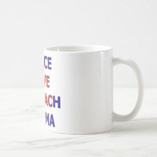 Peace Love Impeach Obama Coffee Mugs